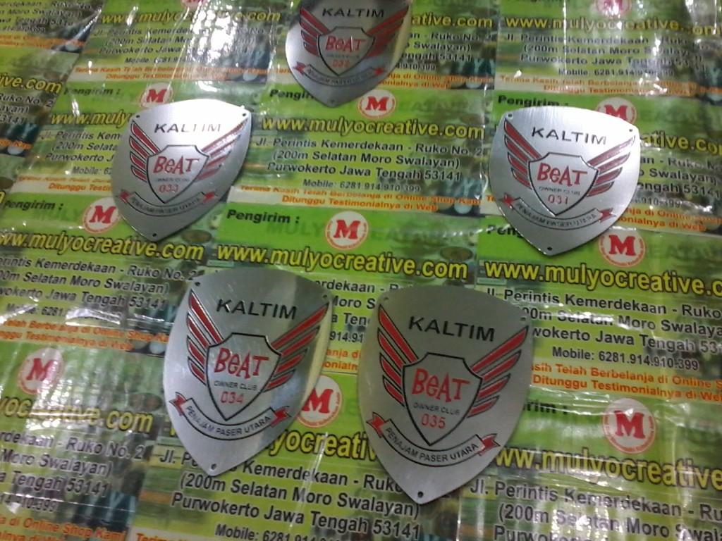 Emblem Plat Komunitas Motor Beat mulyocreative