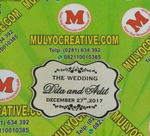 label wedding plat mahar pernikahan pesan name tag plakat pin