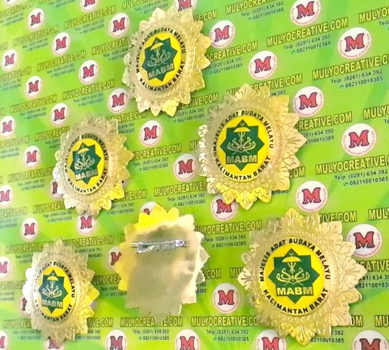 Logo Majelis Adat Budaya Melayu Kalimantan Barat Desain Pin Lencana Mulyocreative