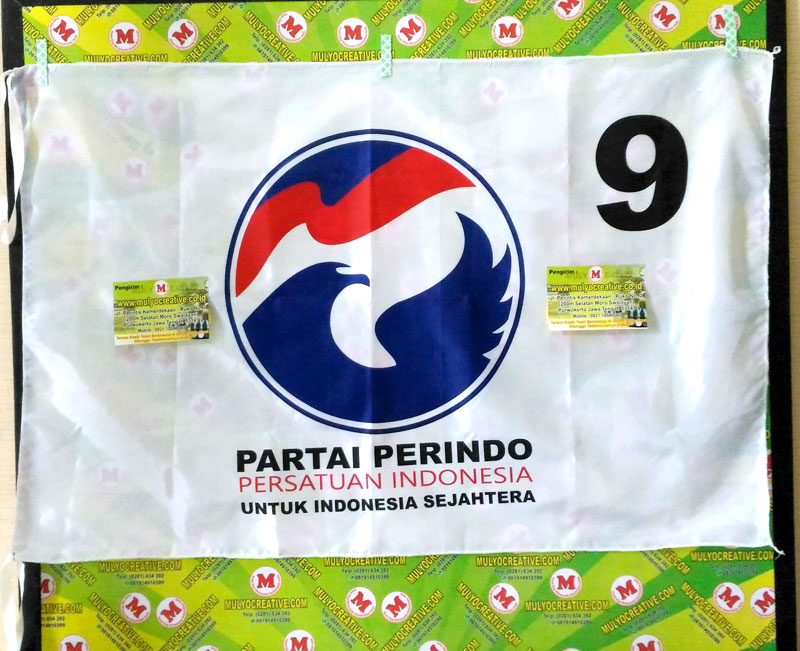 Partai Perindo, Pesan bendera partai sablon harga murah