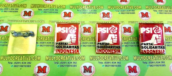 Pin PSI, Lencana Pin Partai PSI, Order dan Pesan sekarang juga di Mulyo Creative