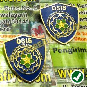 buat Lencana OSIS Custom Bahan Logam