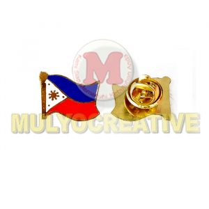 Pesan Pin Bendera Negara Negara Asia Tenggara Bahan Logam Kuningan Harga Murah - Flag Pin Filipina
